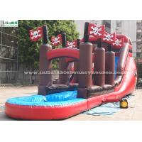 Buy cheap Pirate Long Commercial Grade Inflatable Water Slide Jumper for Garden , Park from wholesalers