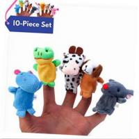 Buy cheap Velvet Animal Style Plush Finger Puppets , Funny Plush Animal Hand Puppets from wholesalers