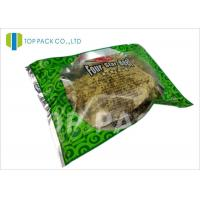 Glossy Green Printed Laminated Pouches 3 Side Seal Aluminm Foil Clear Window Manufactures