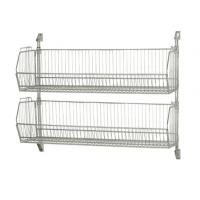 Buy cheap Stackable Wire Grid Baskets , Chrome Plate Wall Mount Wire Mesh Basket from wholesalers