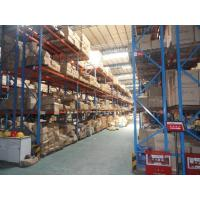 double - deep Cold rolled steel Heavy Duty Pallet Racking system for warehouse Manufactures