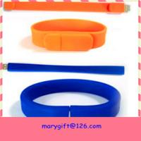 China best selling usb silicone wristband with flash memory on sale