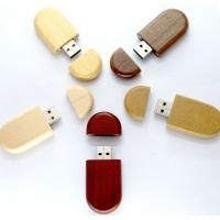 Buy cheap 8GB 16GB 32GB Wood USB Flash Drive With Customized Logo Laser Engraved from wholesalers