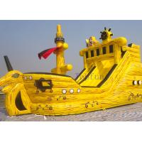 Buy cheap Crazy N Popular Pirate Kids Inflatable Water Slides Inflatable Boat Water Slide For Kids from wholesalers