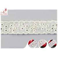 Buy cheap Fashion Embroidered Floral Cotton Eyelet Lace Trim For Nighty Trade Assurance from wholesalers