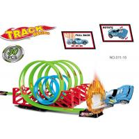 Quality 7 Loops 360° Flip Toy Race Car Track Sets , Race Track Toys For Boys for sale