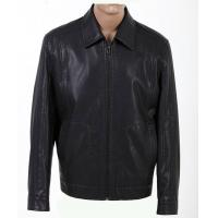 Wholesale Fashion Size 52, Size 54, Black and Knitting Mens Designer Leather Jackets Manufactures
