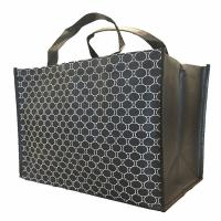 Buy cheap Lightweight Black Recycled Shopping Bag Personalized Foldable 12*13*5 Inches from wholesalers