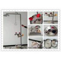 Buy cheap Floor Mounted Combination Laboratory Fittings Portable Safety Shower And Eyewash Station from wholesalers