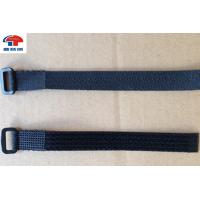 Buy cheap Stretchy Adjustable Loop Strap Fastener With Plastic Buckle , Black  Straps from wholesalers