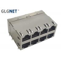 Buy cheap 10G Magnetic EMI Spring 8 Port Rj45 Connector from wholesalers
