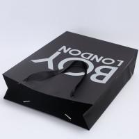 Buy cheap Recyclable Paper Shopping Bags Customized Color For Underwear / T Shirt from wholesalers