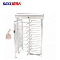 Buy cheap RFID card integrated motorised 304 stainless steel full height high entry exit turnstile barrier gate from wholesalers