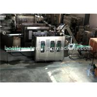 Buy cheap Glass Bottle Flavor Water Filling Machine , 3 In 1 Juice Production Line from wholesalers