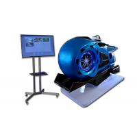 China Crazy VR Motorbike  Simulator Blue color 9D VR Motor Machine Coin Operated Motorbike VR on sale