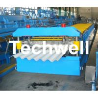 Big Wave Corrugated Roof Roll Forming Machine Galvanised 5.5 Kw with 18 Forming Station