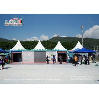 Buy cheap 5 X 5m Windproof Aluminum Pagoda Gazebo Canopy Tent With White Plain PVC Sidewalls from wholesalers