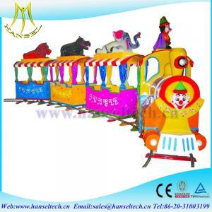 China Hansel hot fiber glass amusement park ride on toy train kids electric train kids ride on train on sale