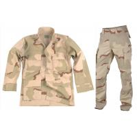 Buy cheap Desert Woodland Army Camo Suit , Mock - Neck Collar Tactical Camo Clothing from wholesalers