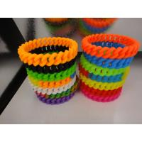 Buy cheap 13mm width Twist Rubber Bracelets,Silicone Braided bracelet,Silicone CHAIN Wristbands from wholesalers