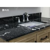 Wholesale Nero Assoluto Granite Natural Stone Countertops For Kitchen / Bathroom Moisture Proof from china suppliers