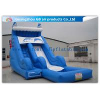 Buy cheap Sea Style Dolphin Inflatable Water Slides , Outdoor Inflatable Water Park With Pool from wholesalers