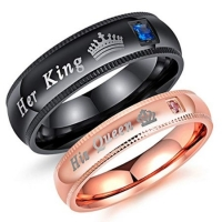 Buy cheap Couples Matching Promise Rings For Boyfriend And Girlfriend from wholesalers