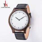 Buy cheap Custom Wood Minimalist Leather Watch Japan Miyota 2035 Movement from wholesalers