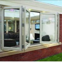 Buy cheap Double panel folding glass windows prefabricated windows and doors from wholesalers
