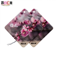 Buy cheap New eco-friendly customized long fragrance car air freshener with logo from wholesalers