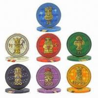 Buy cheap 10g Casino Ceramic Poker Chips, OEM Orders are Welcome, Small Orders Acceptable, Fast Delivery from wholesalers