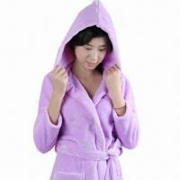 Buy cheap 100% polyester bathrobe for women, reusable from wholesalers
