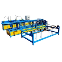 Buy cheap Hot selling automatic diamond wire mesh chain link fence making machine from wholesalers