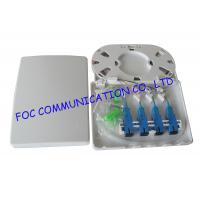 Buy cheap 4 Port Fiber Optic Patch Panel Terminal Box Full Loaded With Adapters and Pigtails from wholesalers