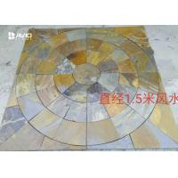 Wholesale Non Slip Rustic Slate Floor Tiles 1.5/1.8m Diameter lowest price Jiangxi Quarry from china suppliers
