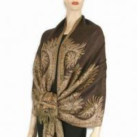 Buy cheap Jacquard Women's Scarf, Measures 178 x 68 and 10 x 2cm, Weighs 175 to 220g product