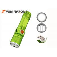 USB Rechargeable CREE XM-L T6 Zoom LED Flashlight 3 Modes with Built-in Battery