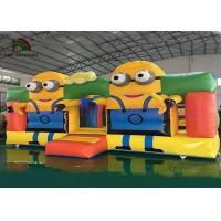 Buy cheap Colorful Minions Commercial Bounce Houses CE Digital Printing PVC Jumping Ground from wholesalers