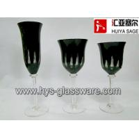 Buy cheap Engraved black glasses, flute red wine white wine glasses, 2014 new style, hot item from wholesalers