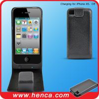 Buy cheap 2100mAh leather power pack case for iPhone 4 & 4GS from wholesalers