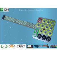 Buy cheap Wire Drawing Treatment Metal Dome Membrane Switch Mirror Effect Silver PC Overlay from wholesalers