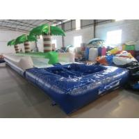 Buy cheap Palm trees slope inflatable water slide 2017 China inflatable water slide with pool from wholesalers