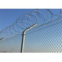 Buy cheap Security Chain Link Mesh Fence Top With Razor Wire Protecting Mesh from wholesalers