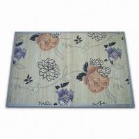 Buy cheap Natural and Carbonized Bamboo Rug, Available in Various Printing Designs, OEM product