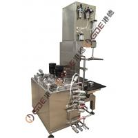 Two Heads Keg Cleaning Filling Machine , Semi-auto Stainless Steel Machine Manufactures