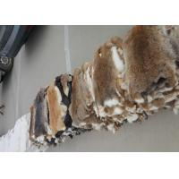 Buy cheap Coat Lining Accessories Rex Rabbit Skin Smooth Natural Brown Color 25*35cm from wholesalers