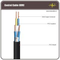 Corrosion Resistant Black PVC Insulated / Shielded Control Cable For Being Laid Indoors Manufactures