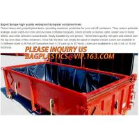 Buy cheap extra lagrge woven PE drawstring dumpster container 20 yard drawstring black dumpster container liners for bagplastics from wholesalers