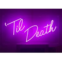 24 inch Height Custom Made Pink Color LED Lighting Neon Sign for Event Manufactures