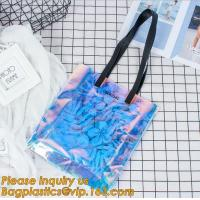 Buy cheap pvc bag with handle folding tote bag pvc swimsuit bag,Clear Vinyl Bags With Handles Clear Makeup Set PVC Zipper Bag from wholesalers